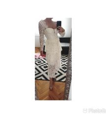 Čipkasta self-portrait haljina vjenčanica-1nosena