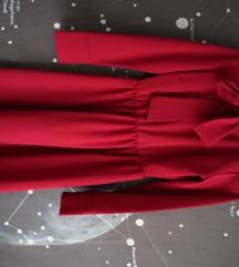 Bordo haljina s mašnom