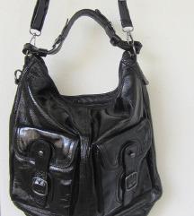 Upla velika crna kožna torba