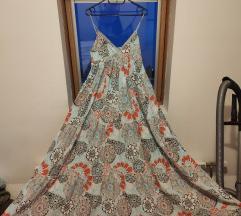 Bogata duga haljina cvijetna