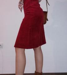 vintage bordo suknja