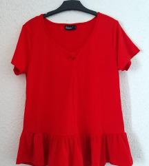 NOVA crvena majica/bluza sa volanom