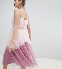 ASOS prekrasna lepršava plisirana haljina M
