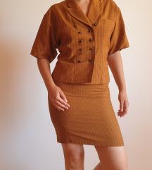 Vintage suknja/bluza set