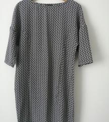 Crno-bijela haljina-uračunata poštarina!