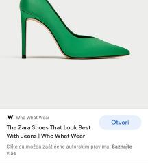 Zara zelene satenske stikle