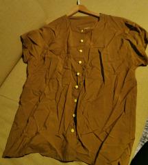 Smeđa vintage košulja kratkih rukava