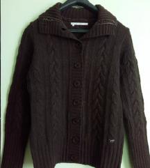 Smeđi vuneni MUSTANG pulover