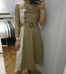 Gorge smeđa blazer stil haljina