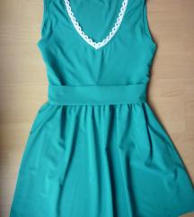 Zelena haljina sa džepovima, L