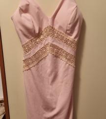 Kratka roza haljina