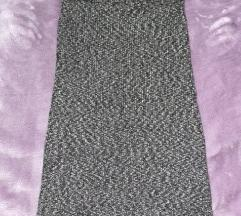 Siva vunena suknja