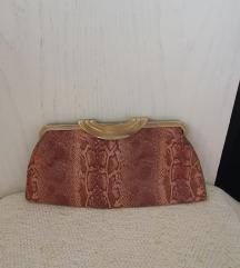 Mini clutch torbica, zmijski uzorak