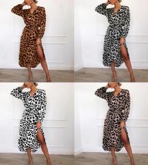 haljina na preklop leopard like zara xs/xl