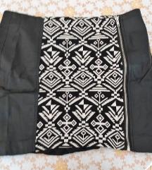 Kožna suknja Only M