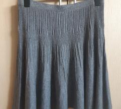H&M midi vunena suknja M jesen zima