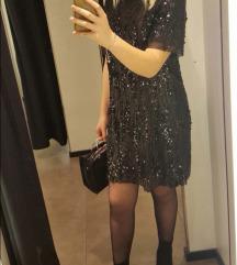 Zara haljina sa sljokicama tisak ukljucen