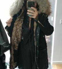 ZARA zimska jakna s krznom