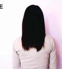 Ekstenzije prirodna kosa crne i plave