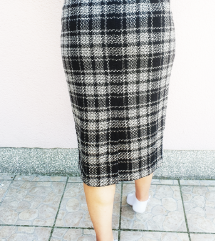 Vintage pencik suknja visoki struk