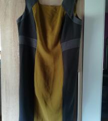 NOVA Crno smeđa haljina vel 46/48