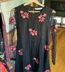 Zara crna haljina XS