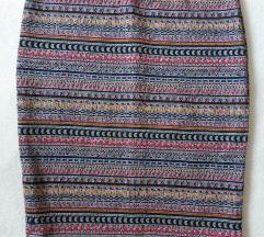 šarena prugasta uska suknja
