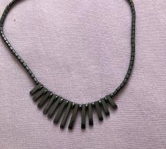 Ogrlica gunmetal  black