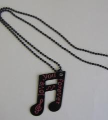 ogrlica s privjeskom note