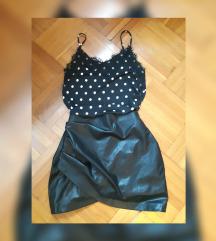 Lot Stradivarius suknja i 2 majice