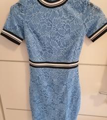 Haljina čipkasta plava