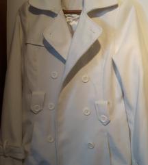 Bijeli jesensko-zimski kaputić vel. 36