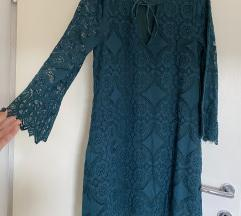 Zelena cipkasta haljina