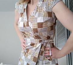 Carpe Diem pamučna wrap haljina