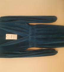 Azurno plava haljina Zara nova