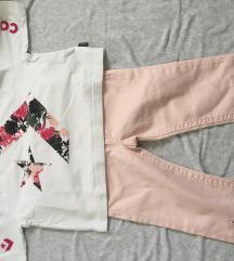 LOT - Hlače H&M+ Majica Converse