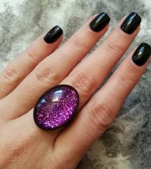 VP prsten - only purple matters (ručni rad)