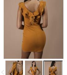 Kratka narancasta haljina #natalie Bonamie