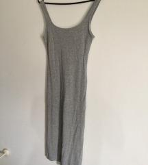 Siva Bershka haljina