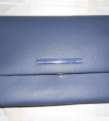 tamno plava pismo torbica -nova