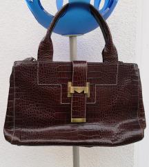 Max Mara smeđa kožna torbica