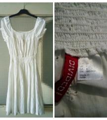 DIVIDED BY H&M pamučna haljina sa štikanim uzorkom