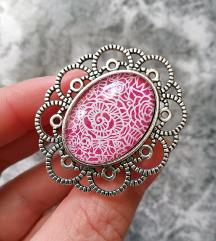 Prsten ''Pink lace'' (ručni rad)