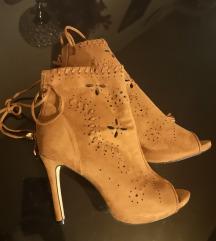 Peeptoe sandale kamel boja
