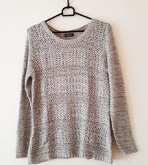 Yessica sivi svjetlucavi pulover