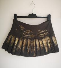 Suknja sa zlatnim printom
