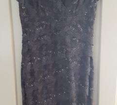 Svečana haljina siva čipka