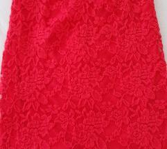 Cipkasta crvena suknja