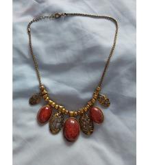 Crveno-zlatna ogrlica
