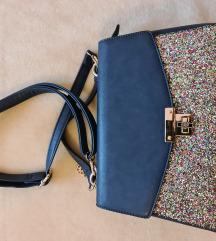 Plava torba sa šljokicama
